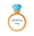 Wedding Ring Icon Isolated Jewels Concept vector image vector image