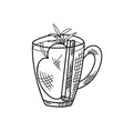winter or autumn drink for your design hand drawn vector image vector image