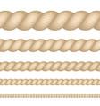 nautical marine naval twine thickness rope set vector image