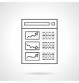 Statistic icon line design icon vector image