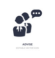 advise icon on white background simple element