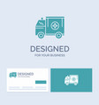 ambulance truck medical help van business logo vector image