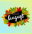 autumn background banner design with yellow green vector image vector image