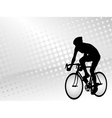 bicyclist silhouette on the abstract background vector image
