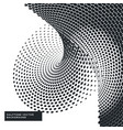 black and white background with halftone dots vector image vector image