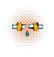 Break trumpet comics icon vector image vector image