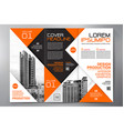 brochure 3 fold flyer design a4 template vector image vector image
