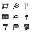 Building tools icons set simple style vector image vector image