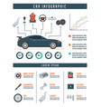car infographic template with parts automotive