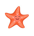cartoon happy starfish for vector image vector image