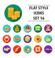charity and donation set icons in flat style big vector image vector image