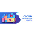 cloud computing security concept banner header vector image