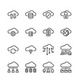 cloud technology icon set vector image vector image