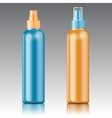 Colored sprayer bottle template vector image
