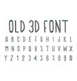 Colorful old 3D font stereoscopic effect