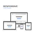 concept responsive web design landing page vector image vector image