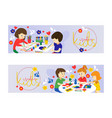 creative kids set of banners vector image vector image