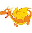 cute dragon cartoon vector image vector image