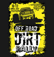 dirt rally poster vector image vector image