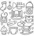 doodle baelement with hand draw vector image vector image