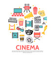 flat movie round concept vector image