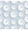 Floral seamless pattern with white chamomile vector image vector image