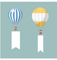 flying advertising on hot air balloons vector image vector image