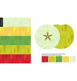 food patterns fruit apple vector image