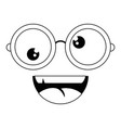 funny face glasses vector image vector image