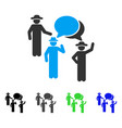 gentlemen discussion flat icon vector image vector image