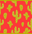 green and red cactus seamless pattern vector image vector image