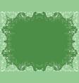 green patterned frame vector image vector image