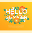 Hello summer - modern colorful