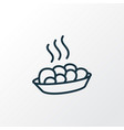 hot meal icon line symbol premium quality vector image vector image