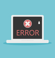 laptop error vector image vector image