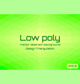 low poly green lime abstract background geometric vector image vector image