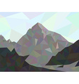 mountain low poly vector image