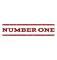 Number One Watermark Stamp vector image vector image