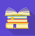 pile of book icon flat style vector image vector image