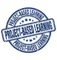 project-based learning blue grunge stamp