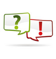 question answer signs vector image