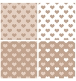 Seamless pastel hearts wallpaper background set vector image