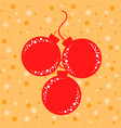 set of flat isolated silhouettes of red christmas vector image