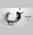 silhouette a volleyball player girl woman female vector image vector image