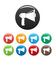 small megaphone icons set color vector image vector image
