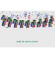 south africa garland flag with confetti vector image vector image