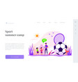 sport summer camp landing page template vector image vector image