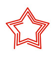star line style red abstract sign on white vector image vector image