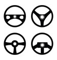 steering wheel icon set vector image