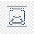 transform concept linear icon isolated on vector image